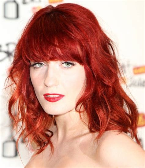 Bright Hairstyles by Florence Welch Wavy Hairstyle Evening