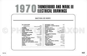 Mark Iii Thunderbird Original Wiring Diagram Ford