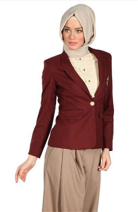 kumpulan model baju hijab modis  tampilan  kantor