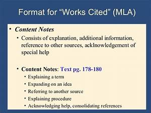 Mla Format Works Cited Page Writing The Research Paper A Handbook 7th Ed Ch 9 Mla