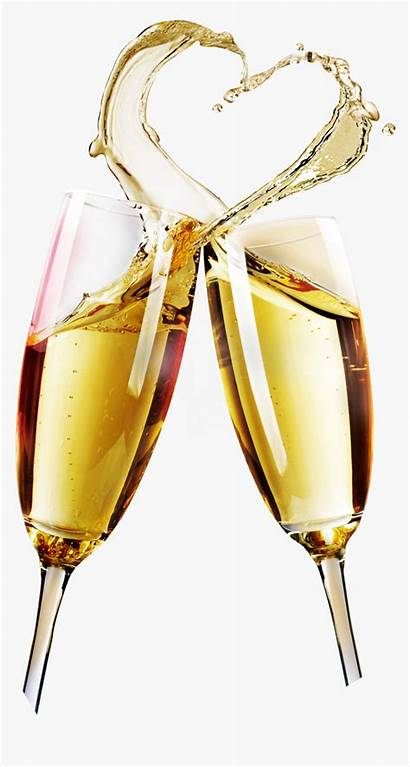 Champagne Glass Transparent Wine Pop Cup Clipart