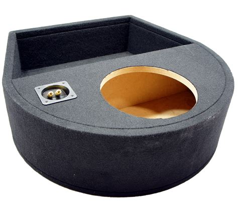 universal fit single 10 quot subwoofer sealed replacement spare tire custom sub box ebay