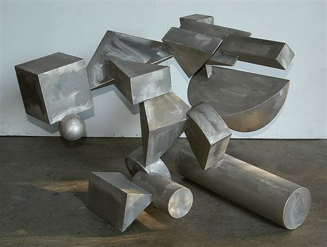 Abstract Shapes Sculpture by Tectonics Modern Abstract Metal Sculpture By Sculptor