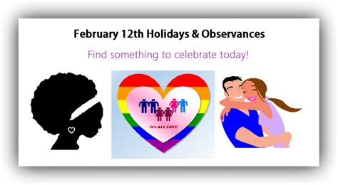 february  holidays  observances time   holidays