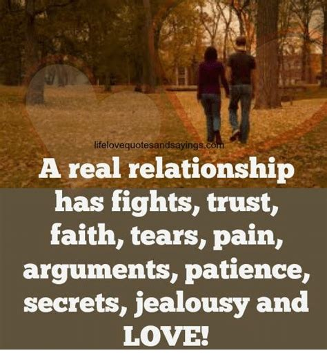 Real Relationship Memes - lifelovequotesandsayingsco a real relationship has fights trust faith tears pain arguments