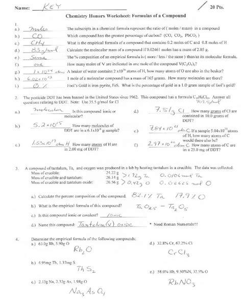 empirical formula worksheet the best worksheets image