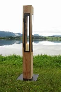 Lichtobjekte Aus Holz : lichtsaule kunst aus holz schmid ~ Sanjose-hotels-ca.com Haus und Dekorationen