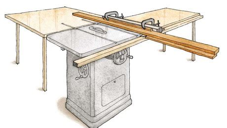 plan rip fence extension  safer   cut plywood