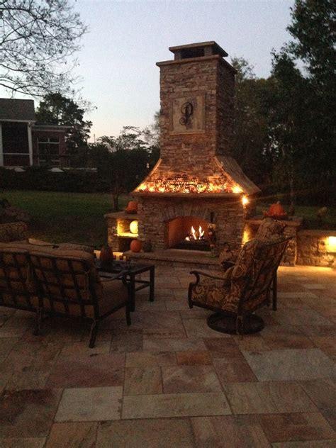 custom outdoor fireplace custom built outdoor fireplace patios outdoor living paths pin