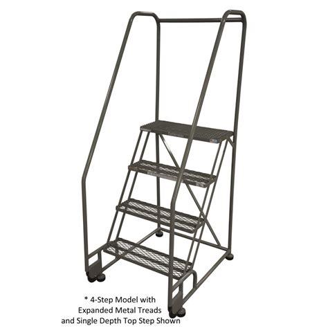 cotterman  step tilt  roll stainless steel ladder