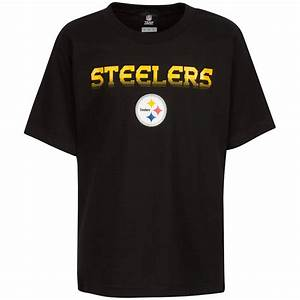 NFL Team Apparel Pittsburgh Steelers Sleeved Black Youth T ...