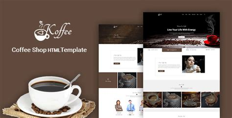 koffee coffee shop cafe restaurant html template