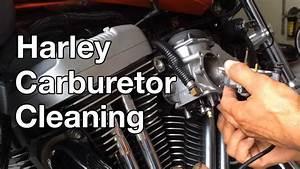 How To  Harley Davidson Sportster Carburetor Cleaning