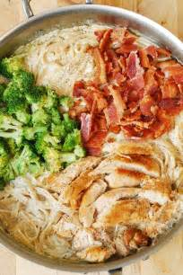 dinners with chicken creamy broccoli chicken and bacon pasta