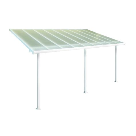palram feria 10 ft x 18 ft white patio cover awning
