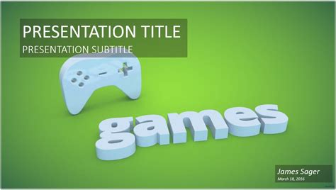game controller powerpoint template   game