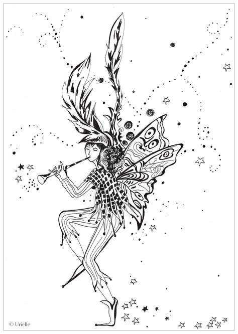 fairy coloring pages  adults
