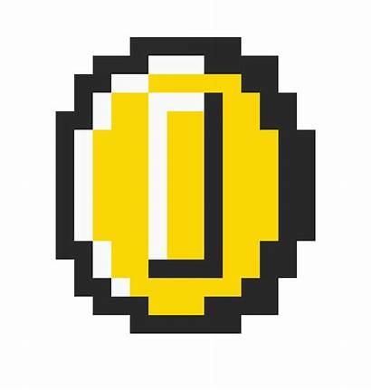 Mario Coin Bros Pixel Minecraft Clipart Transparent