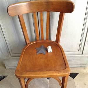 Chaise Bois Vintage : chaise bistrot ancienne de style baumann en bois clair ~ Teatrodelosmanantiales.com Idées de Décoration