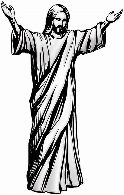 Jesus Clipart Christ Clip Drawing Svg Cross