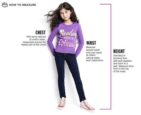 Girls Measuring Guide
