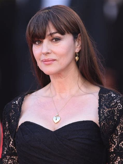 With A Fringe: Monica Bellucci.   10 Gorgeous Long