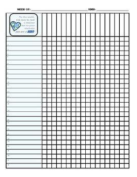 teacher grade book blank template  tpt