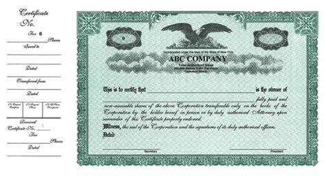 stock certificates custom stock certificates custom