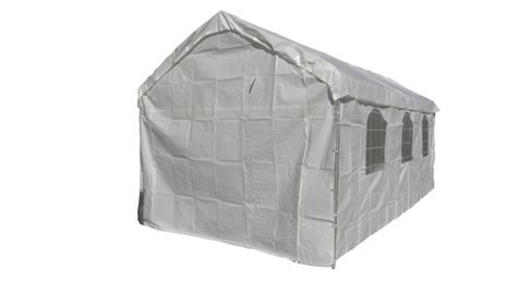 heavy duty valance canopy tarp carport cover white  ebay