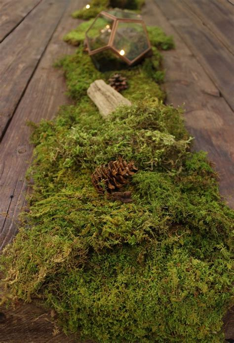 best 25 moss table runner ideas on moss