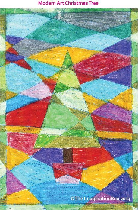 modern art christmas tree   pinned pin