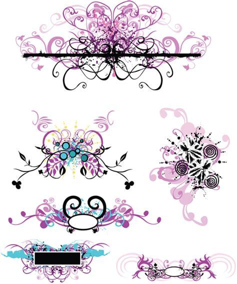 elements  violet floral vector