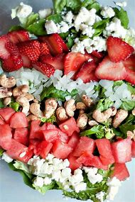 Green Salad with Strawberries Recipe