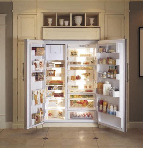 ge monogram  built  side  side refrigerator zisnr ge appliances