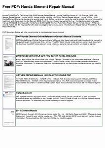 Honda Civic 2007 Maintenance Schedule Pdf
