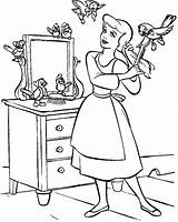 Cinderella Coloring Pages Emergency Cartoon Clean Hair Friends Comb Cleaning Getcolorings Printable Pdf Template sketch template