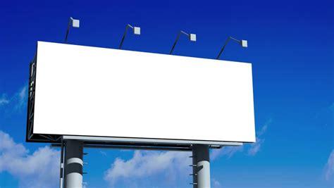 blank billboard  moving clouds hd stock footage
