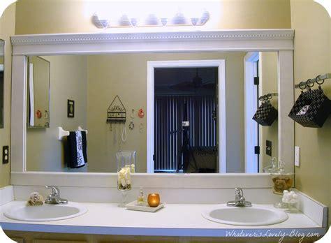 Big Bathroom Mirror by Upgrade A Builders Grade Bathroom Mirror Although With My