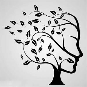 Tree, Of, Life, Reusable, Stencil, A3, A4, A5, Human, Head, Face, Modern, Art, Treeoflife6
