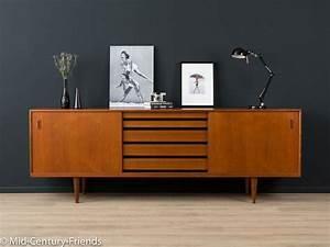 Mid Century Möbel : 60er sideboard denmark kommode vintage von mid century ~ A.2002-acura-tl-radio.info Haus und Dekorationen