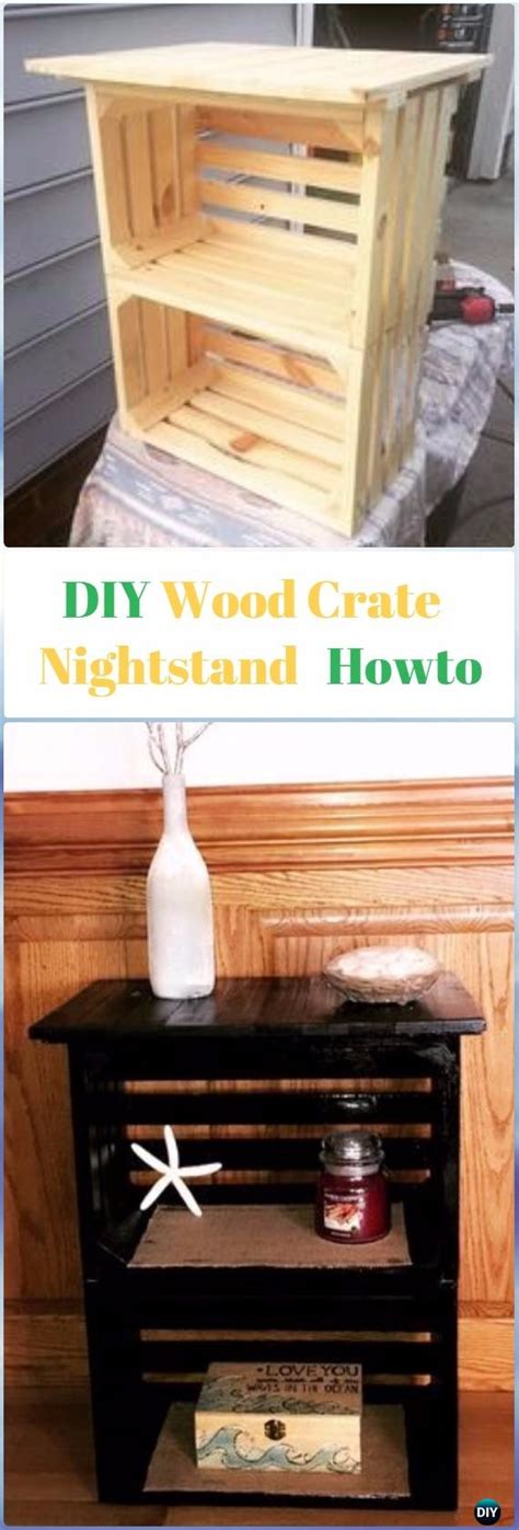 Crate Nightstand Diy by Diy Wood Crate Furniture Ideas Projects