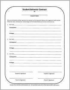 Behavior contract behavioral management contract sybil for Student contracts templates