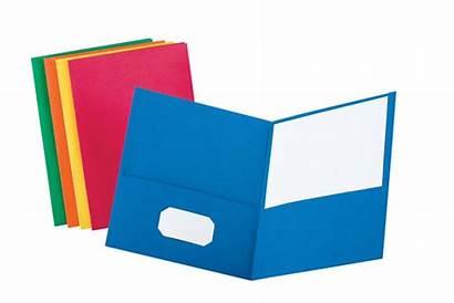 Folder Clipart Pocket Oxford Homework Folders Cliparts