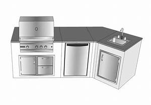 modular outdoor kitchens kit affordable modern home With kitchen cabinets lowes with waterproof stickers for water bottles