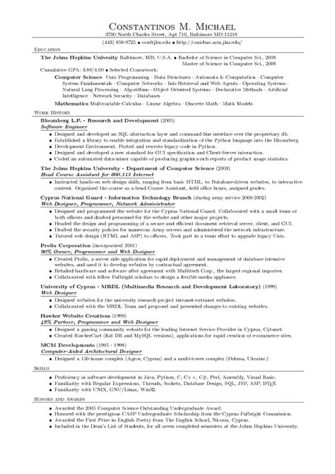resume tlete computer science printable receipt