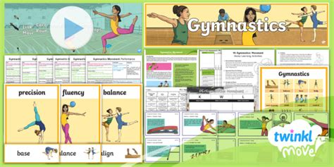 * New * Twinkl Move Pe  Y6 Gymnastics Movement Unit Pack  Lessons, Aims