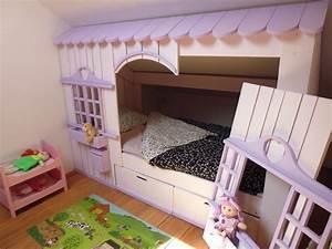 Lit Enfant Cabane : lit cabane mini house pour fille et gar on abramacabane ~ Teatrodelosmanantiales.com Idées de Décoration