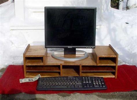 desk organizer monitor stand oak desk computer organizer monitor stand riser