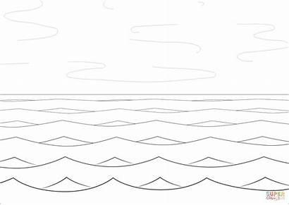 Coloring Sea Colorear Mar Waves Olas Mare