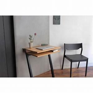 Petit Bureau Noir : pi16 treteau metal pour bureau deux niveaux mural ~ Teatrodelosmanantiales.com Idées de Décoration